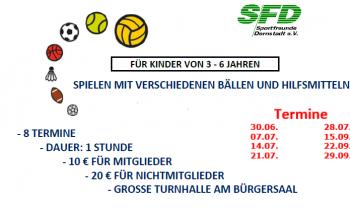Ballschule für Kinder 3 – 6 ab dem 30.06.2017
