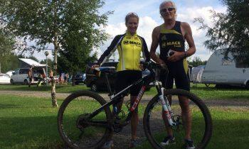 Vater und Tochter Mauch bei der Deutschen Meisterschaft im Cross-Triathlon erfolgreich
