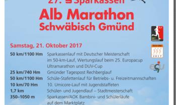 27. Alb-Marathon in Schwäbisch-Gmünd