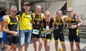 David Hinze gewinnt die Sprintdistanz in Lauingen