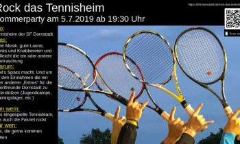 Rock das Tennisheim und die nächsten Spiele