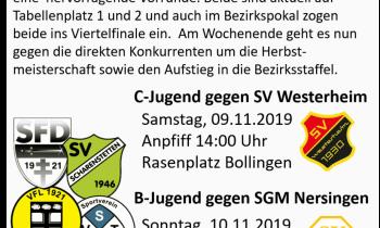 """Ankündigung: B- und C-Jungs spielen am Wochenende um den """"Herbstmeister"""""""