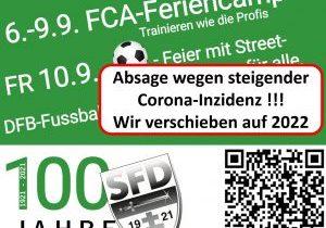 Jugend-/Frauenfußball-Aktionswoche *** Fest am 10.09. verschoben auf 2022 ***